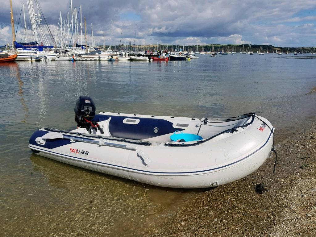 Honwave T35 AE with Tohatsu 15fs outboard.