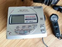 VINTAGE, COLLECTABILE, SHARP MINIDISC WALKMAN PLAYER RECORDER MD-MT20H, RETRO Sony Walkman WM-FX193