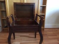 SOLD - Vintage piano stool