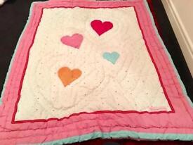 Set of Girl Duvet + bed Bumper bundle in pink