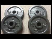 4 X 2.5 kg (10kg total) Hammertone Weight plates , New