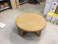 Large round oak coffee table
