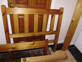 Single bed frame and NEW and unused mattress, very good condition