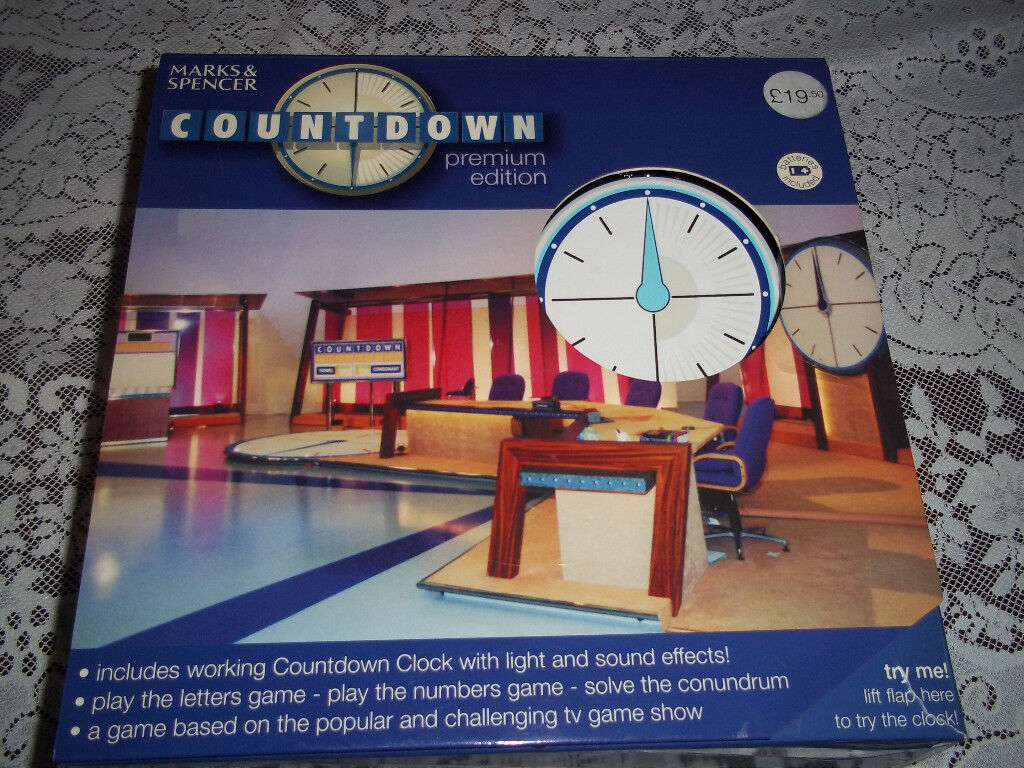COUNTDOWN game, Marks & Spencer, New