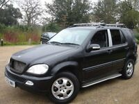/// MERCEDES BENZ ML270 CDI AUTOMATIC DIESEL 2002 PLATE /// 2.7 ML 4X4 JEEP NEWER SHAPE ///