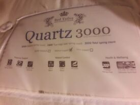 Double divan bed (with storage) and mattress with headboard, great condition