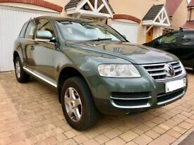 Volkswagen Touareg, 2004, Green, 4 x 4 Automatic, 2.5tdi DIESEL, 136k Low Miles, Service History