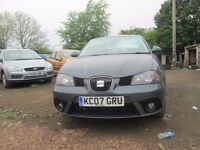 SEAT IBIZA 2007 1.4 LTR PETROL 1 YEAR MOT VERY CLEAN CONDITION CAR!!!