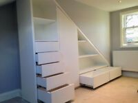 Carpenter/Joiner: Hansford's Interiors; fitted wardrobes, media storage, shelving, alcoves