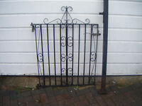 heavy garden gate and post