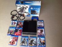 £190 - PLAYSTATION 4 PS4 500GB CONSOLE & CONTROLLER WITH 10 GAMES BUNDLE IN ORIGINAL BOX