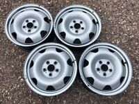"""Genuine 17"""" VW Transporter T6 Steel Wheels Set of Four Spare Great Condition Singles Available"""