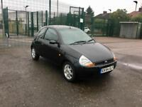 2005 FORD KA 1.3 - Black, 3 Doors, Petrol, Manual, 12 Months MOT, Only 80K Mileage, CHEAP INSURANCE