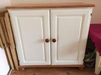 Pine and cream cabinet
