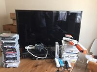 FULL GAMING SET UP, TV ps3 ,Wii Games