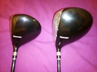 Mens Right Handed Slazenger Panther Driver & Three Metal Golf Clubs