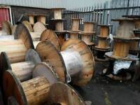 Cable drums reclaimed ready for up cycle into tables or displays etc various sizes available