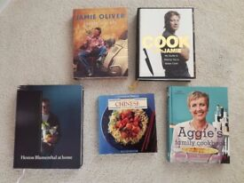 Various Cooking Books, Jamie Oliver, Heston Blumenthal, all excellent condition