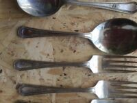 Vintage party cutlery set
