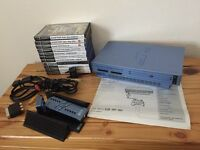 Blue ps2 with bag and games bundle great condition.