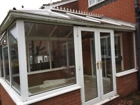 Conservatory for sale, already dismantled by qualified builder for quick collection