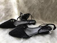 Forever 21 Lacey Flat Shoes UK Size 8