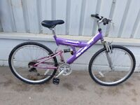 Full suspension mountain bike womans or girls ** i can deliver **