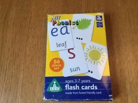 ELC Jolly Phonics flash cards - 56 piece set for ages 3-7