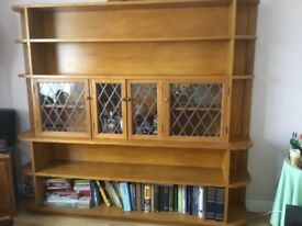 Large display cabinet with drinks cabinet.