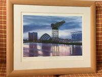 Framed Picture of the River Clyde