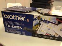 2 x New Brother Black Toners TN 130 BK