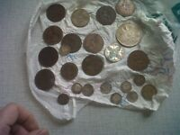 4SALE,VARIOUS,ASSORTMENT OF OLD ENGLISH DECIMAL COINS