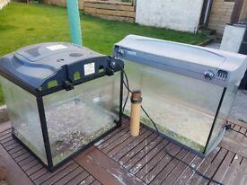 Fish tank x2 tetra goldfish koi