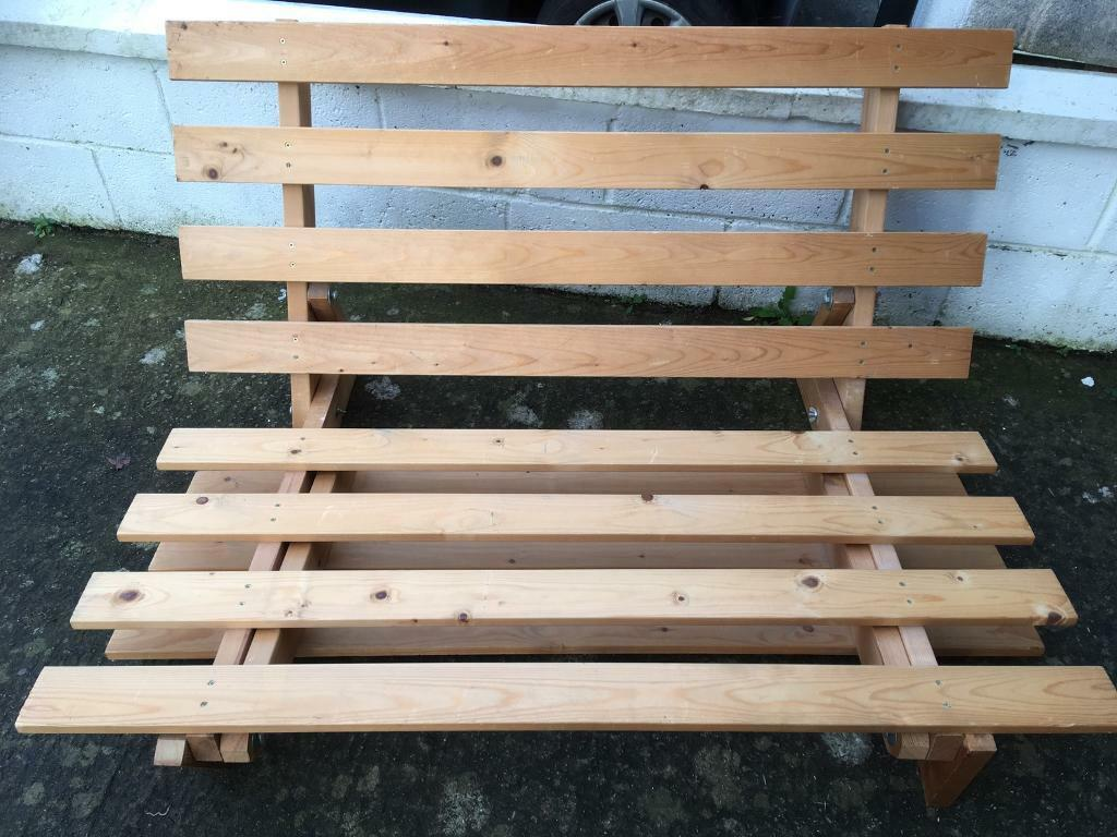 Futon Wooden Base And Mattress In
