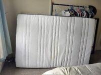 Double mattress memory foam only few months old