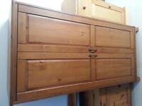 Ikea Leskvik Antique Pine Two Door Wardrobe