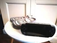 Playstation Portable (PSP) + 16 games + case