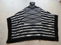 Karen Millen Black & White Poncho style Sweater
