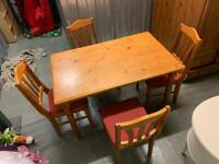 FREE DELIVERY dining table + 4 chairs