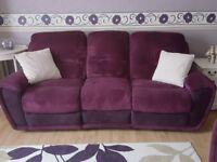 3 piece sofa couch settee recliner suite