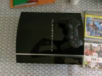 Sony PlayStation 3, 1 controller and six games.