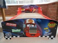 Lightning McQueen Disney Cars Wooden Toddler Bed