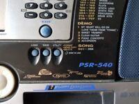 Yamaha PSR-540 Keyboard and Squire 15g Amp