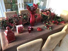 Christmas Decorations - Red Berry Colour Collection