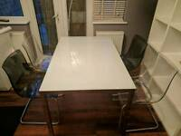 Ikea glass topped dining table Torsby