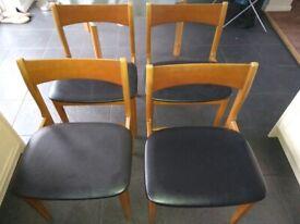 Vintage Dining Chairs in Teak