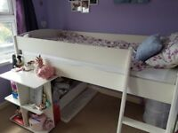 Midsleeper bed frame with pullout desk (stompa)