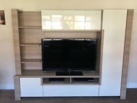 Tv entertainment unit - excellent condition . Purchased from Furniture Village .