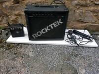 Rocktek guitar amp, mini amp and microphone