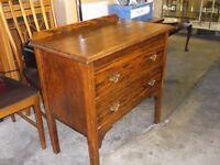 VINTAGE OAK TWO DRAWER CHEST GOOD SHABBY CHIC PROJECT